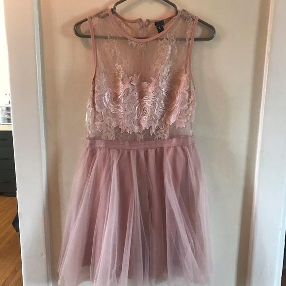 Light pink party dress
